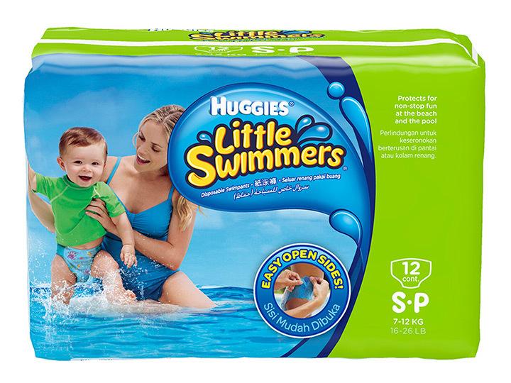 กางเกงผ้าอ้อมฮักกี้ Huggies สำหรับว่ายน้ำ กางเกงผ้าอ้อมสำเร็จรูป แพมเพิสว่ายน้ำ