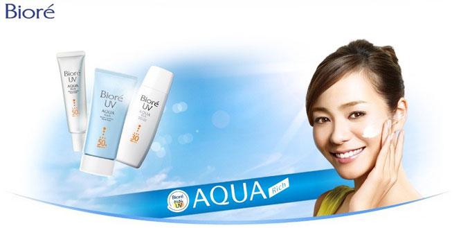 ครีมกันแดด Biore UV Aqua Rich Watery Essence PA++++ ครีมกันแดด กันน้ำ ครีมทาหน้า