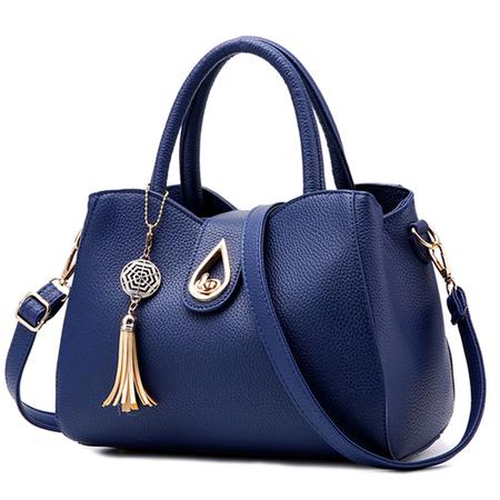 กระเป๋าสะพายสีน้ำเงินสำหรับสาววันเสาร์