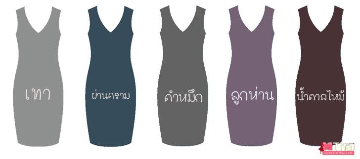 Dress_สีสุุภาพ