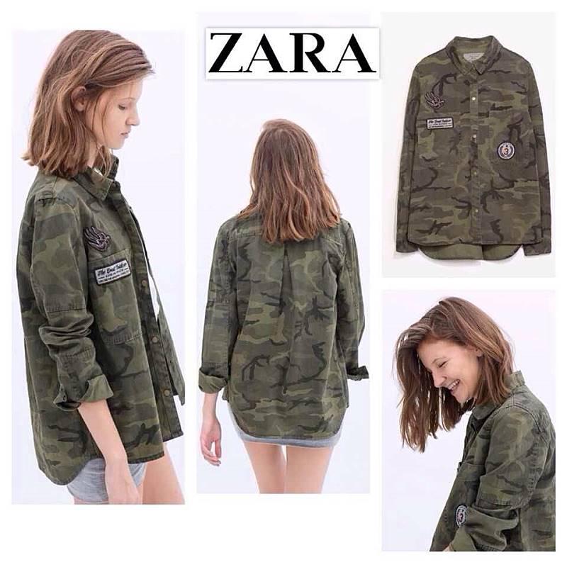เสื้อลายทหาร zara