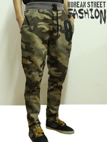 กางเกงลายทหารขายาว