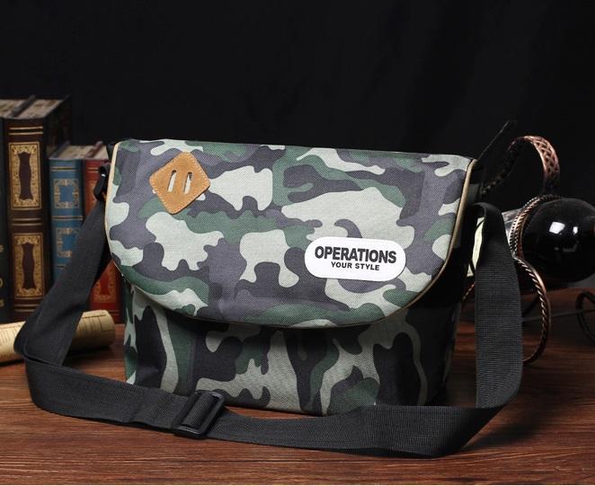 กระเป๋าสะพายข้างลายทหาร