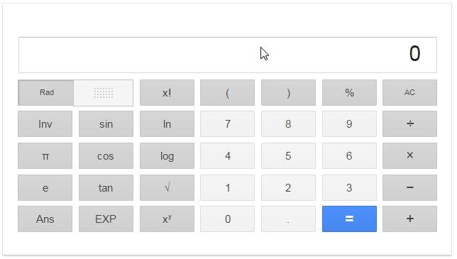 google calculator เครื่องคิดเลขกูเกิ้ล