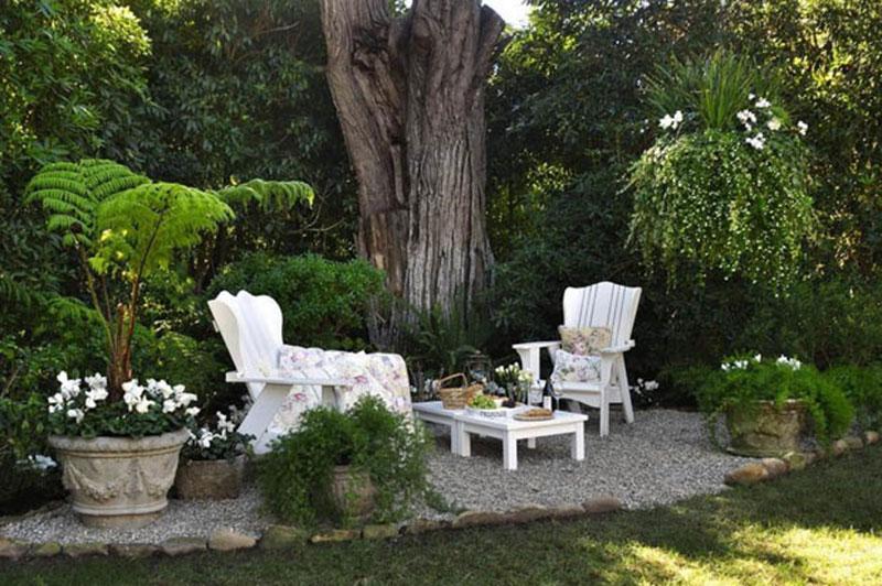 มุมพักผ่อนในสวน