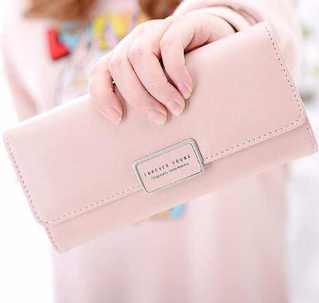 กระเป๋าสตางค์-สีชมพู