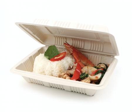 กล่องใส่อาหารพลาสติกชีวภาพ
