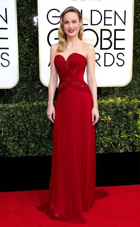 brie larson - red dress