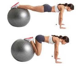 บริหารหน้าท้องด้วย Gym Ball-2